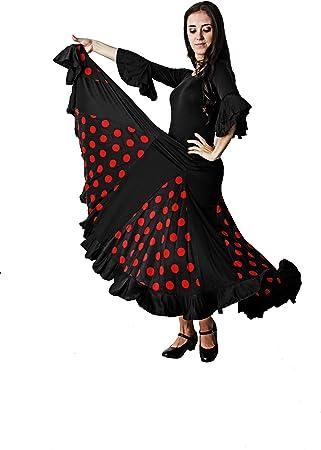 Costumizate! Falda de Baile Flamenco para Mujer Adulta Tallas ...