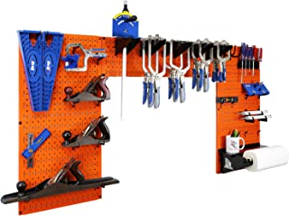 product image for Wall Control Woodworking Tool Storage Organization Kit - Lazy Guy DIY Edition Wood Working Tool Supply Organizer for Do-It-Yourself Woodworkers and Makers (Orange Pegboard)