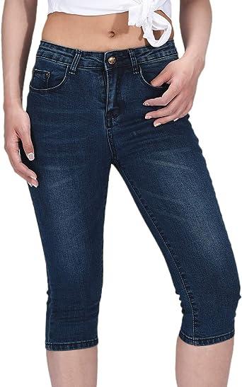 Amazon Com Phoenising Pantalones Vaqueros Ajustados Comodos Y Ajustados Para Mujer Clothing