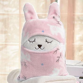 Wecail - Manta polar muy suave, multiusos, diseño de animales de dibujos animados,
