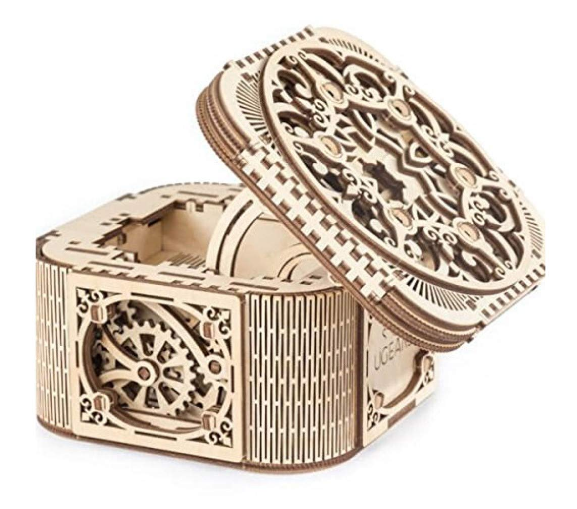 UGears Mechanical Models 3-D Wooden Puzzle - Mechanical Treasure Box    by UGears