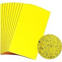 Toppaie Gelbe Fliegenfalle Fänger Fliegenfänger Sticker 30 Stück (großformatig 20x25cm) Beidseitig Gelbtafeln Gelb Sticker für Fangfliegen