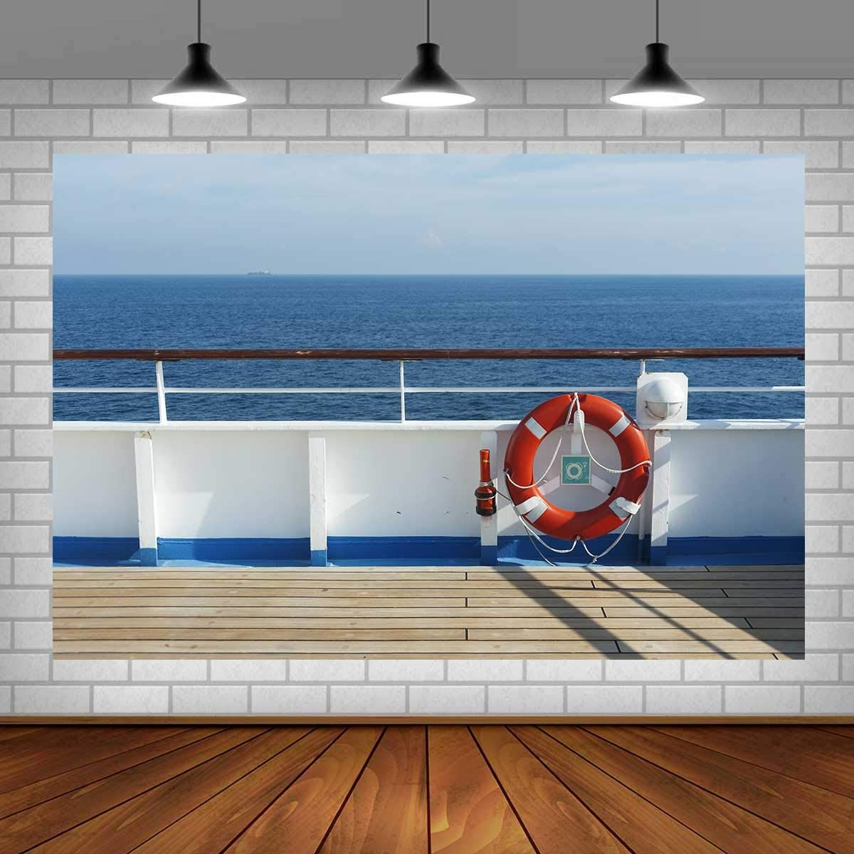 7x10 FT Nautical Vinyl Photography Background Backdrops,Marine Anchor with Wind Rose Ship Wheel Sailors Sea Life Ocean Adventure Background Newborn Baby Portrait Photo Studio Photobooth Props