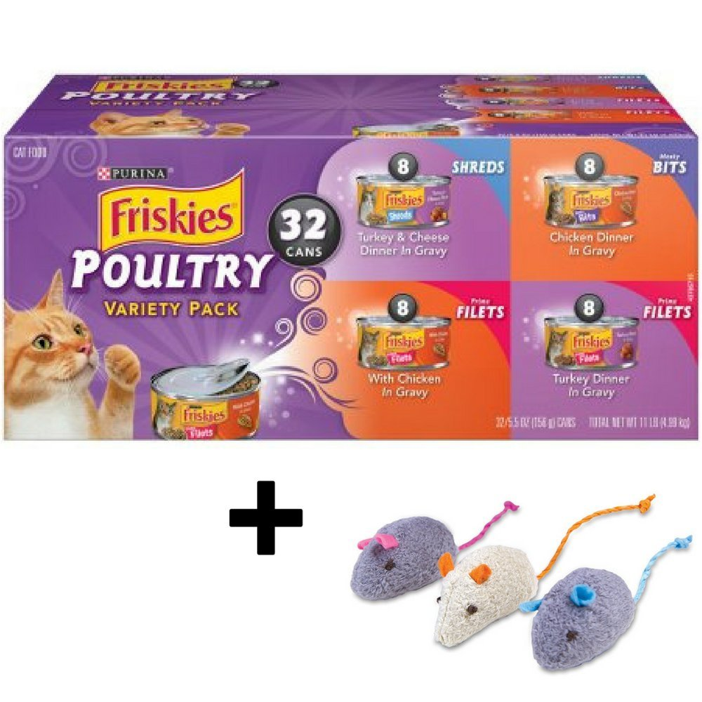 Purina Friskies Poultry Adult Wet Cat Food Variety Pack - (32) 5.5 oz. Cans, Pack of 2