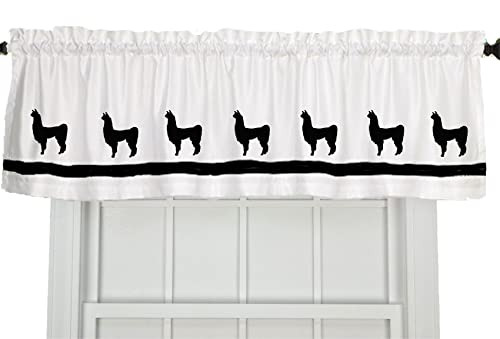 Llama Window Valance Window Treatment – In Your Choice of Colors – Custom Made