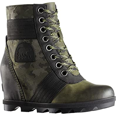 f148ffd09590f Amazon.com | SOREL Women's Lexie¿ Wedge Hiker Green 7.5 B US B (M ...