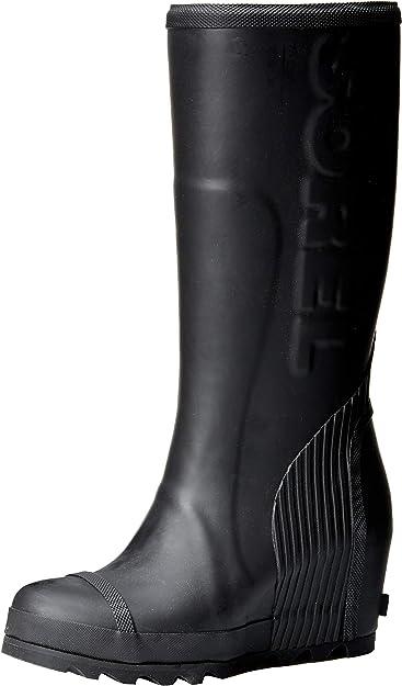 Joan Tall Rain Wedge Boots