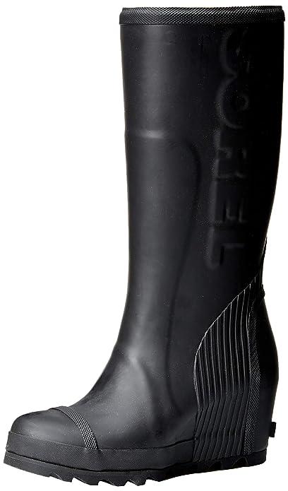 a4d1c1b96f64 Sorel - Women s Joan Rain Wedge Tall Felt Rain Boot  Sorel  Amazon ...