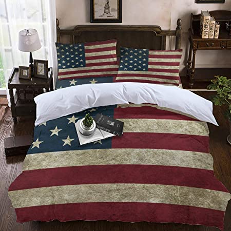 Come Usare Il Copripiumino.Soefipok Set Copripiumino 4 Pezzi Set Bandiera Americana