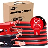 TOPDC Jumper Cables 4 Gauge 25 Feet Heavy Duty Booster Cables with Carry Box (Or Bag) (4AWG x 25Ft)