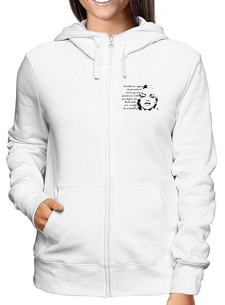 Sudadera con Capucha Zip para Las Mujeras Blanco T0572 Marilyn Monroe Frase Fun Cool Geek: Amazon.es: Ropa y accesorios
