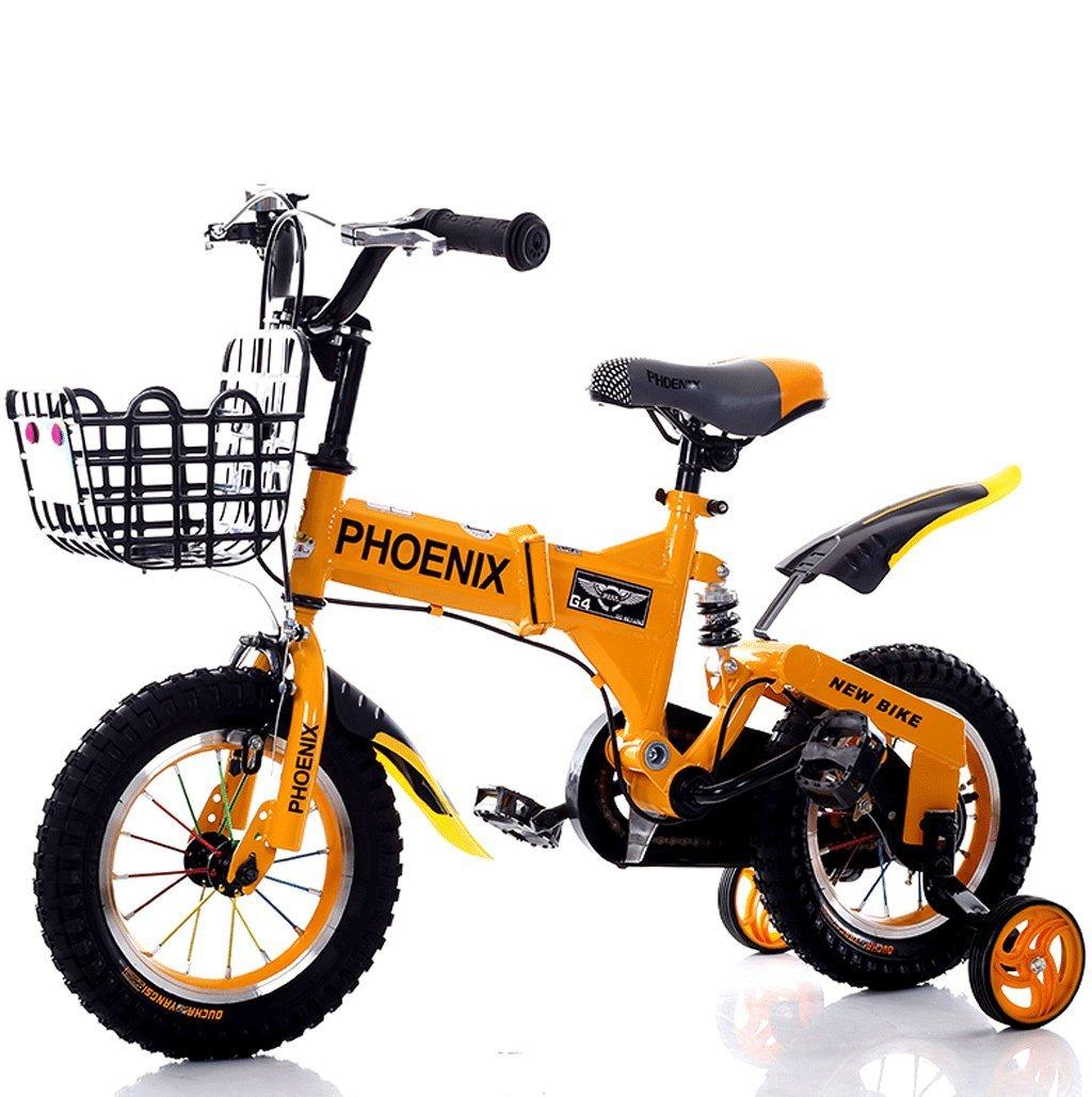 子供の自転車2-12歳の赤ん坊の子供の自転車の男性と女性のショックアブソーバーの赤ちゃんの車 (色 : オレンジ, サイズ さいず : 18 inches) B07D529756 18 inches|オレンジ オレンジ 18 inches