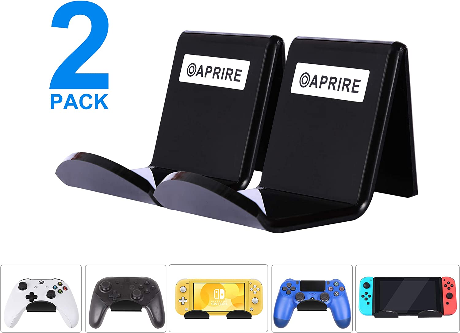 Controller /& Headset Holder Combo Bundle Wall Stand Accessory for Microsoft Xbox One
