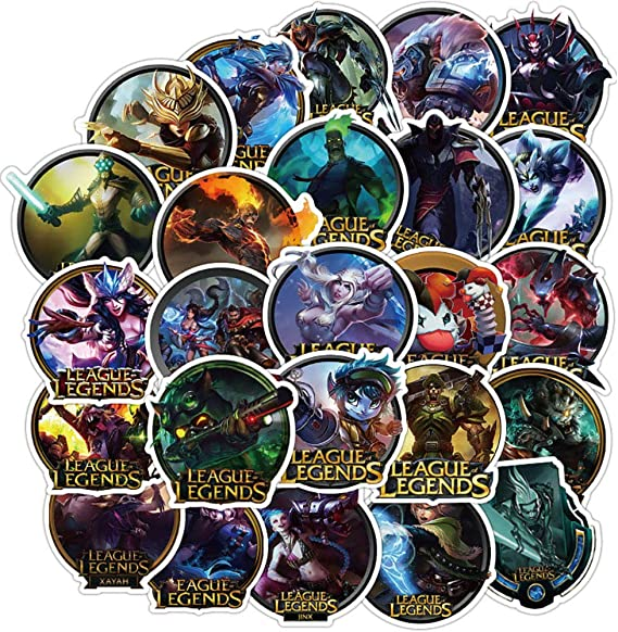 Ratgoo 100Pcs Trendy Waterproof Vinyl Cute Funny Cartoon Stickers Decals Pack For League Of Legends Motorcycle Car Luggage Phone Guitar Water Bottle Flasks Bike Laptop Motocross Girls Kids Teens Boys.