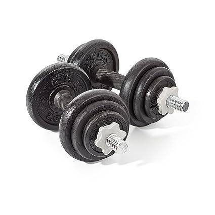 York Juego de pesas 20 kg negras hierro fundido