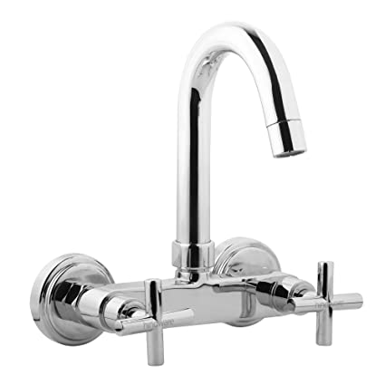 Hindware F120020CP Sink Mixer with Swivel Spout (Wall Mounted) (Axxis) with Chrome Finish