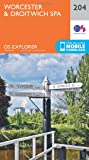 OS Explorer Map (204) Worcester and Droitwich Spa