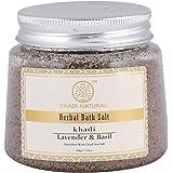 Khadi Natural Ayurvedic Lavender Basil Bath Salt, 200g