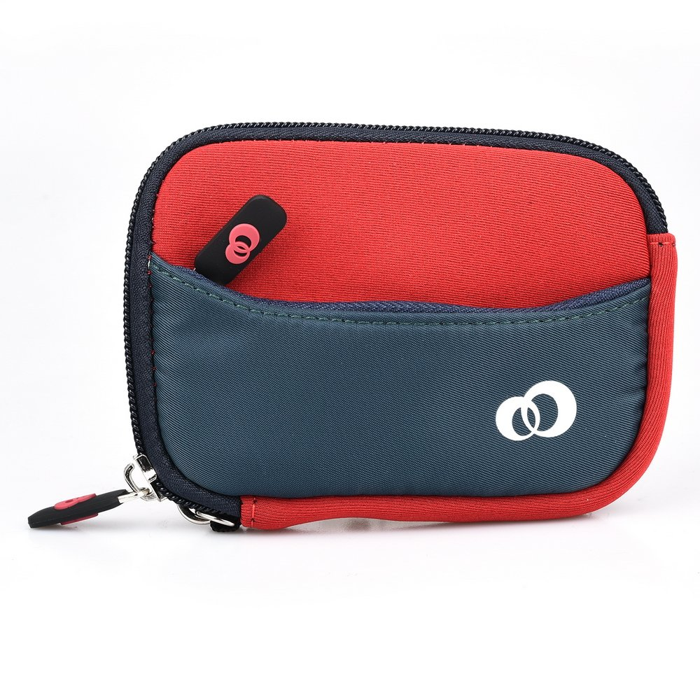 (S) Neoprene Travel Carrying Pouch with pocket fits Samsung ST200F