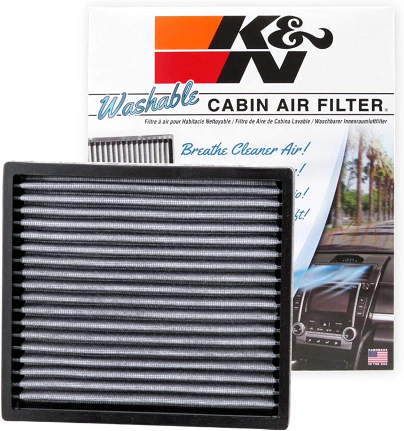 Fits Lexus NX200T 2015-2019 L K/&N High Flow Replacement Air Filter
