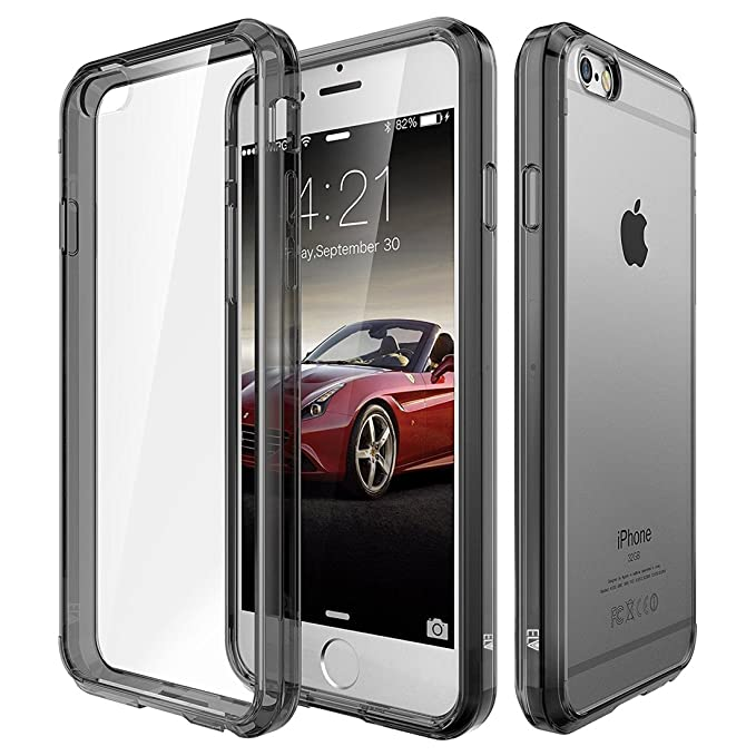 ELV Protection Slim Dust Proof Back Case with Shock Absorbing Case Cover for Apple iPhone 6S / iPhone 6 4.7 Inch - Grey