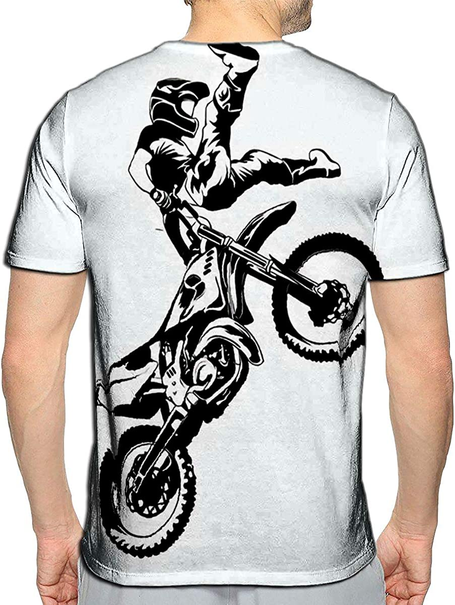 T-Shirt 3D Printed FMX Trick Rider Casual Tees