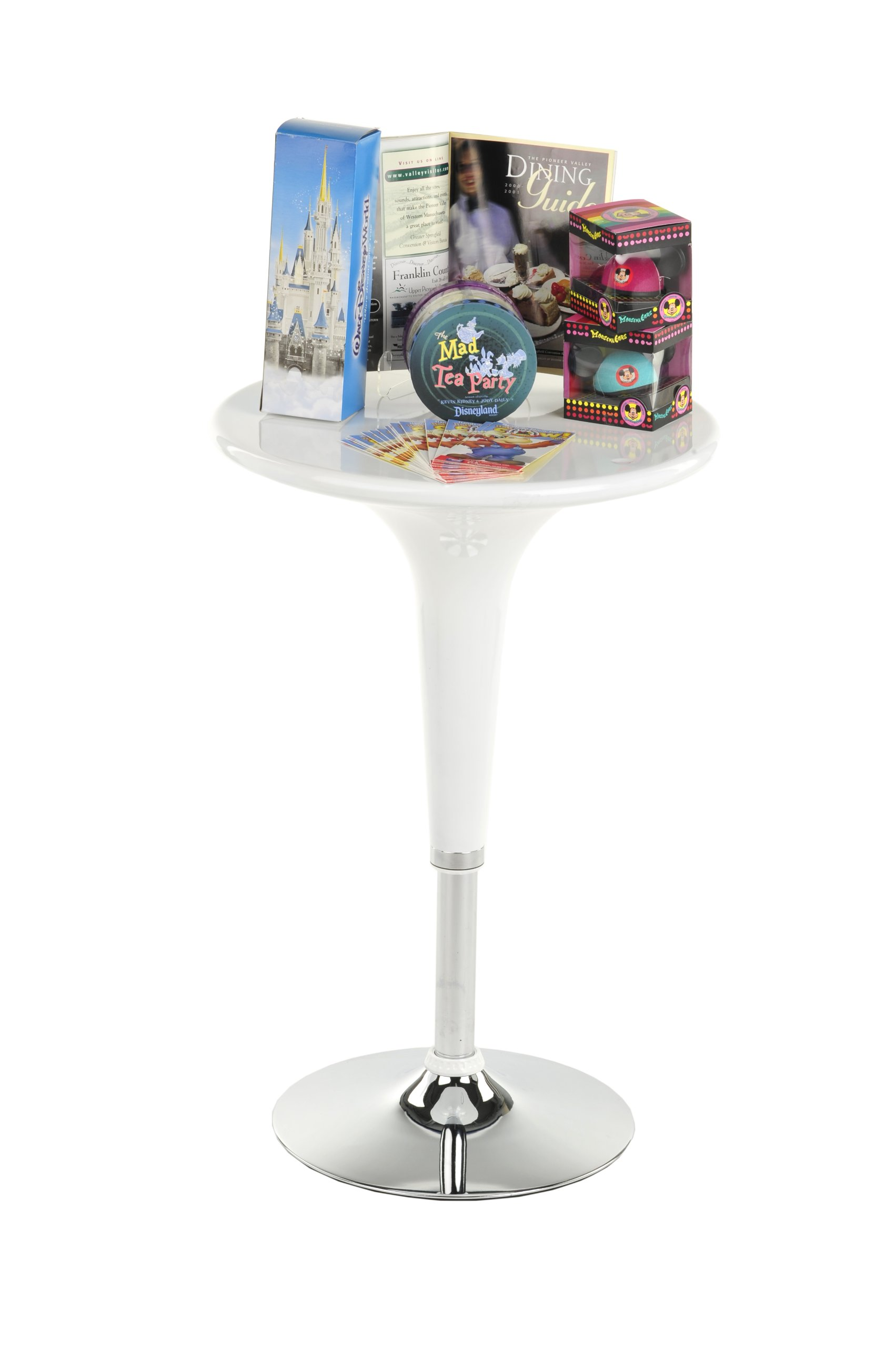 Displays2go BRTBLBF1W Adjustable Pub Table with 360 Degree Rotation, 24'', White by Displays2go (Image #7)