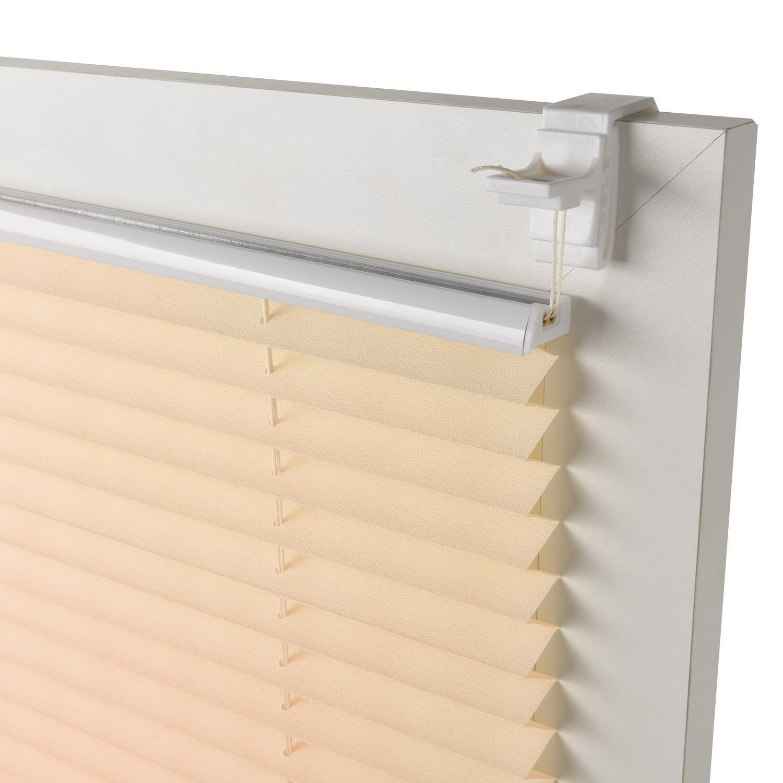 Sol Royal Plissee SolDecor P25 - 95x150 cm Beige / Creme - Klemm-Fix ...