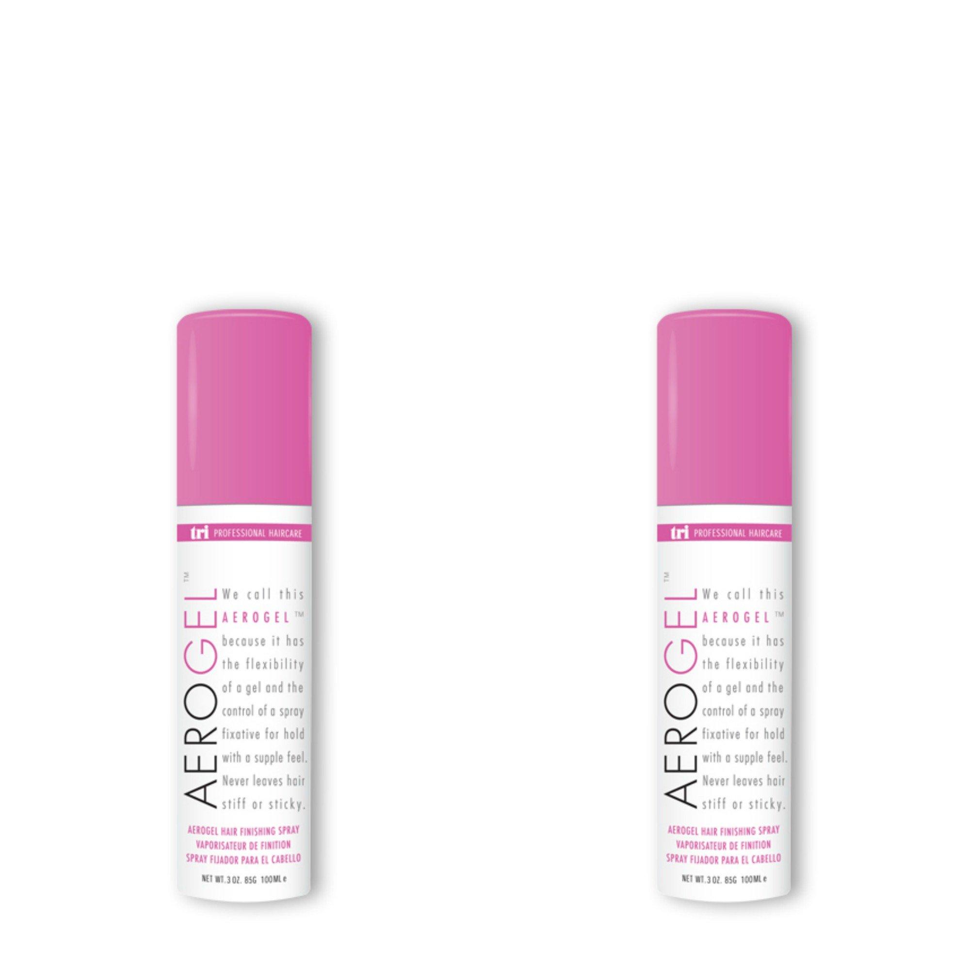Tri Aerogel Hair Finishing Spray 3 oz. - 2 cans by TRI