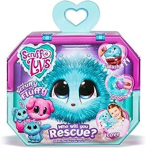 Worlds Apart Scruff A Luvs Rescue Pet Soft Toy - Rabbit, Cat Or Dog, Aqua