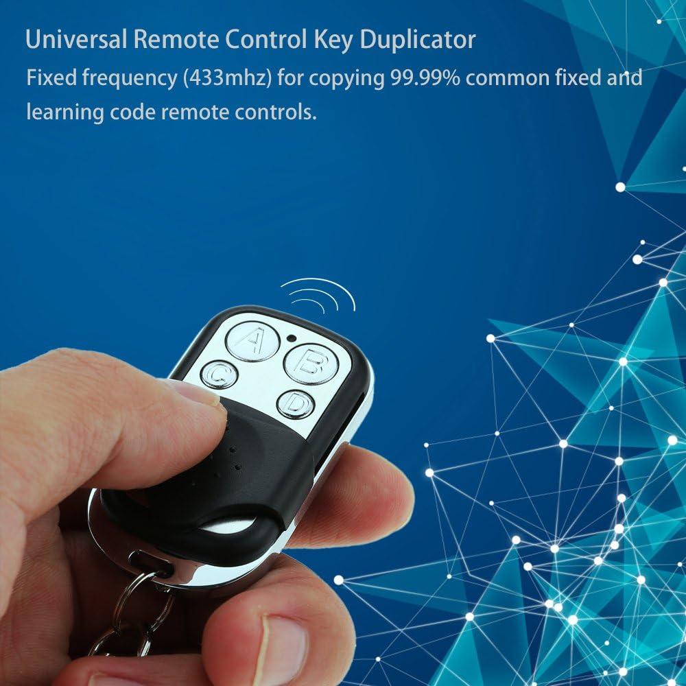 Lepeuxi Reemplazo Mini Copiar C/ódigo de 4 Canales de Control Remoto Universal Clonaci/ón Duplicadora de Llaves Transmisor 433 MHz Aprendizaje Garaje Puerta Abridor de Puerta de Controlador Old Key