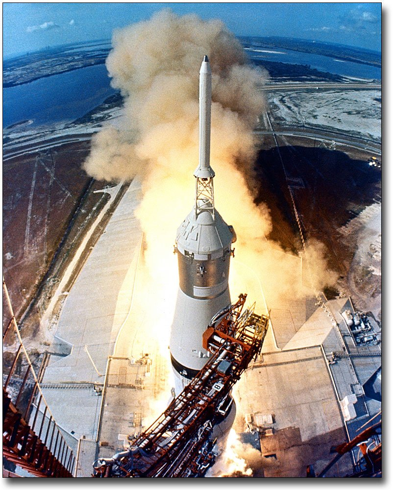 Apollo 11 Lunar Mission Rocket Launch 11x14 Silver Halide Photo Print The McMahan Photo Art Gallery & Archive
