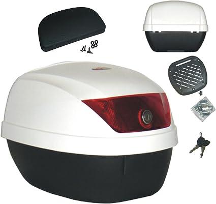 S-AIM Top Case Moto Bagage Scooter Universel Casque bo/îte de Queue Dure /étui /à Bagages pour Scooter de Moto avec raccords /étui Rigide pour Casque 38x42x34cm