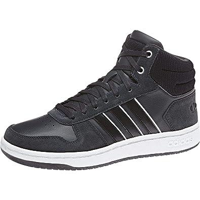 best service d51d1 f6512 adidas Damen Hoops 2.0 Mid Basketballschuhe, Schwarz CblackSilvmt, 36 23