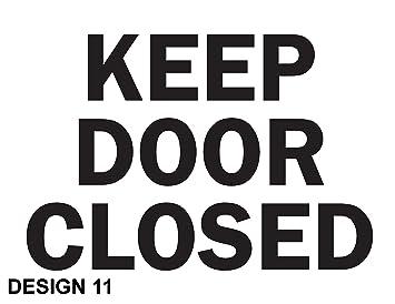Keep diese Tür geschlossen Gesundheit & Sicherheit Metall Aluminium ...