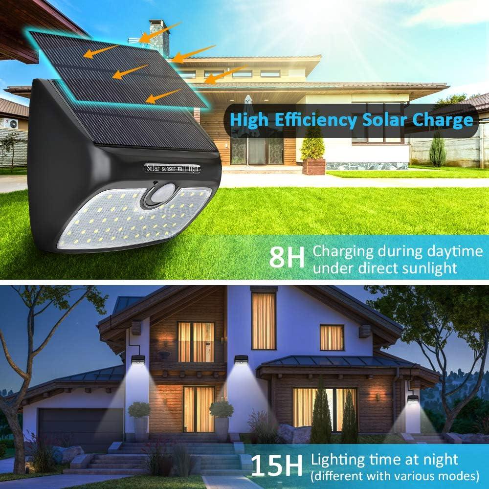 Solar Gartenleuchte mit Bewegungsmelder Hof Patio Solarlampen f/ür Au/ßen 2 St/ück wasserdichte Solarlampe f/ür Balkon Cocoda Solarleuchte Garten 48 LEDs mit Trennbarem Solarpanel Lager Deck