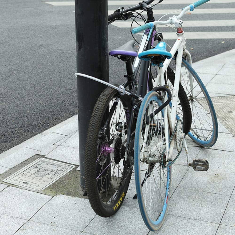 Motorr/&a Hochleistungs Fahradschlo/ß U Fahrradschl/össer Schwerlast/ Hochsicherheits-D-B/ügel-Fahrradschloss mit 4 ft // 1,2 m Stahlflexkabel und stabiler Halterung f/ür Fahrr/äder Fahrr/äder Fahrradschloss B/ügelschloss