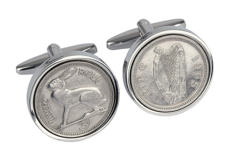 1943 - Irish Threepence Coin Cufflinks - 75th Birthday Cufflinks