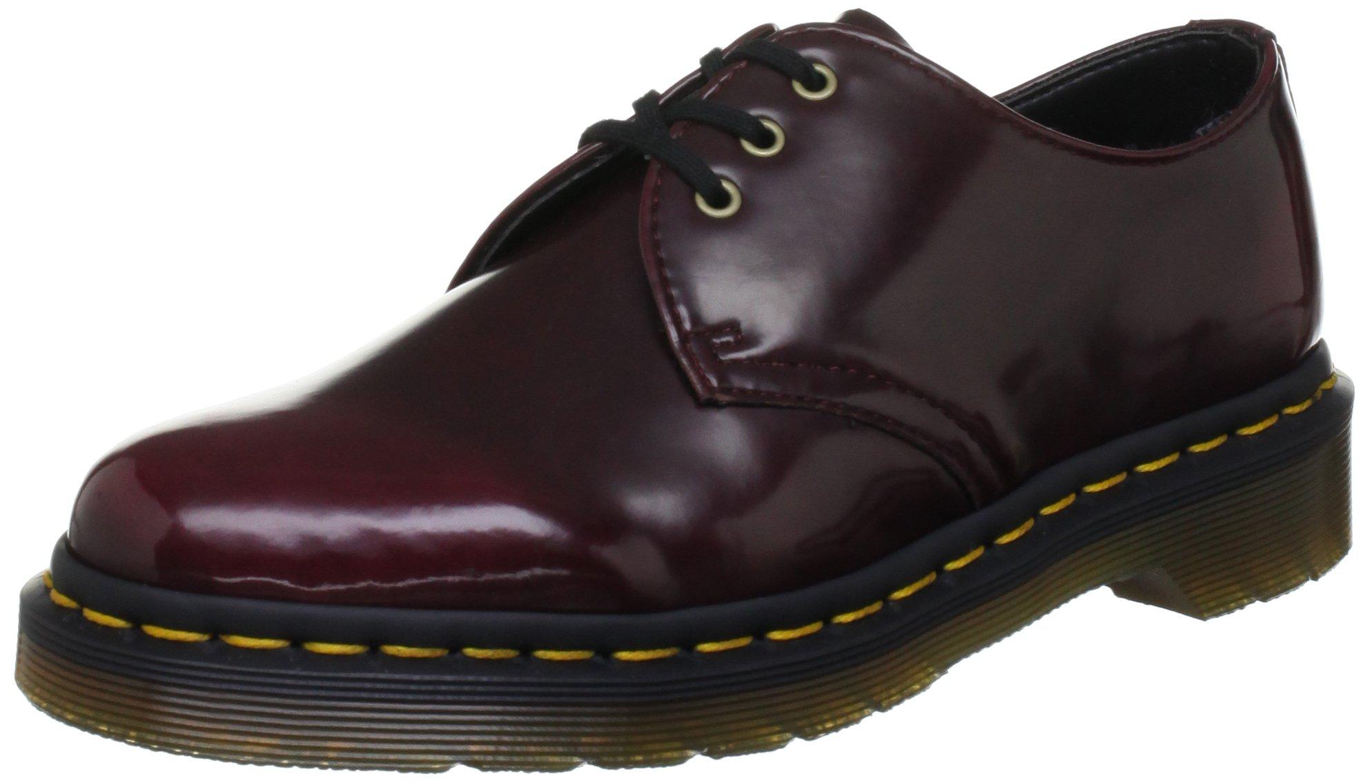 0437d4ee14f2f Galleon - Dr. Martens Women's 1461 Vegan 3 Eye Shoe Boot,Cherry Red  Cambridge Brush,5 UK/7 M US
