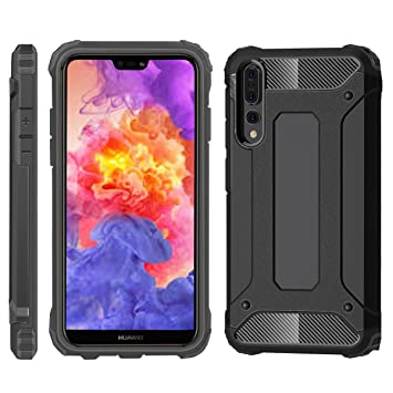 separation shoes 724ac ccd56 iPro Accessories Compatible For Case Huawei P20 Pro, Cover Huawei P20 Pro,  [Survivor] Military-Duty Case - Shockproof Impact Resistant Hybrid [armor  ...