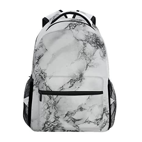 9dd5cbf5b16f Image Unavailable. Image not available for. Color  WXLIFE Art Marble  Backpack Black and White Travel School Shoulder Bag for Kids Boys Girls  Women