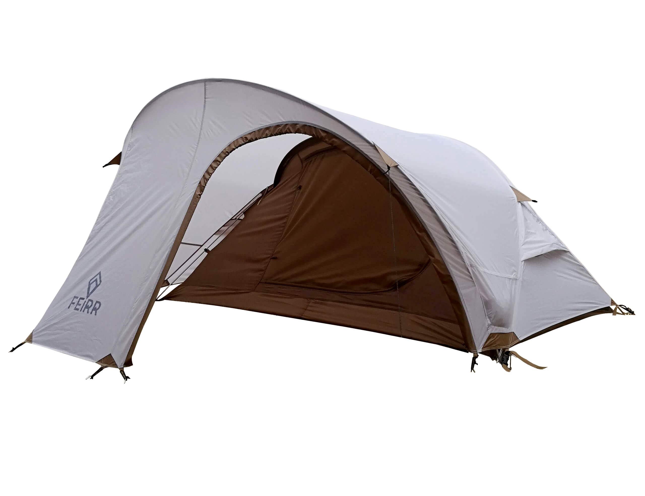 Nassi Equipment Feirr Collection 2-Person Backpacking Tent for Camping with Carry Bag and Repair Kit, Portable Waterproof Family Tent, Aluminum Frame