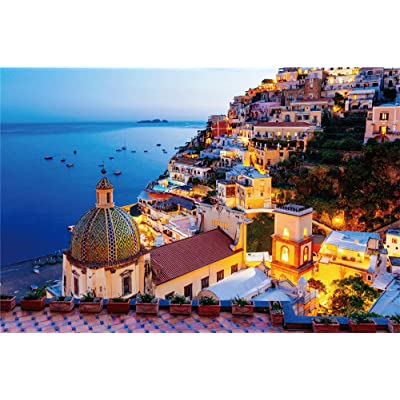 Jigsaw Puzzles for Adults Kids 1000 Pieces Puzzles Large Dreamy Positano Puzzles for Family Indoor Game Toys: Toys & Games