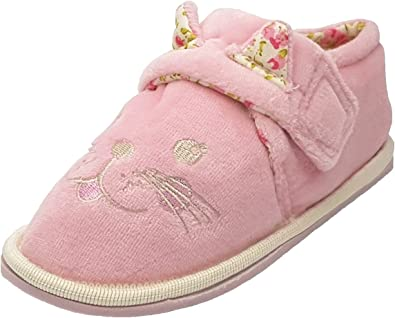 Girls Sweet Dreams Pink Cat Slippers