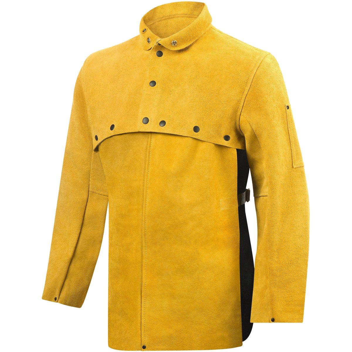 Steiner 8213-L Standard Leather Cape Sleeve with 20'' Bib, Standard Bourbon Split, Large