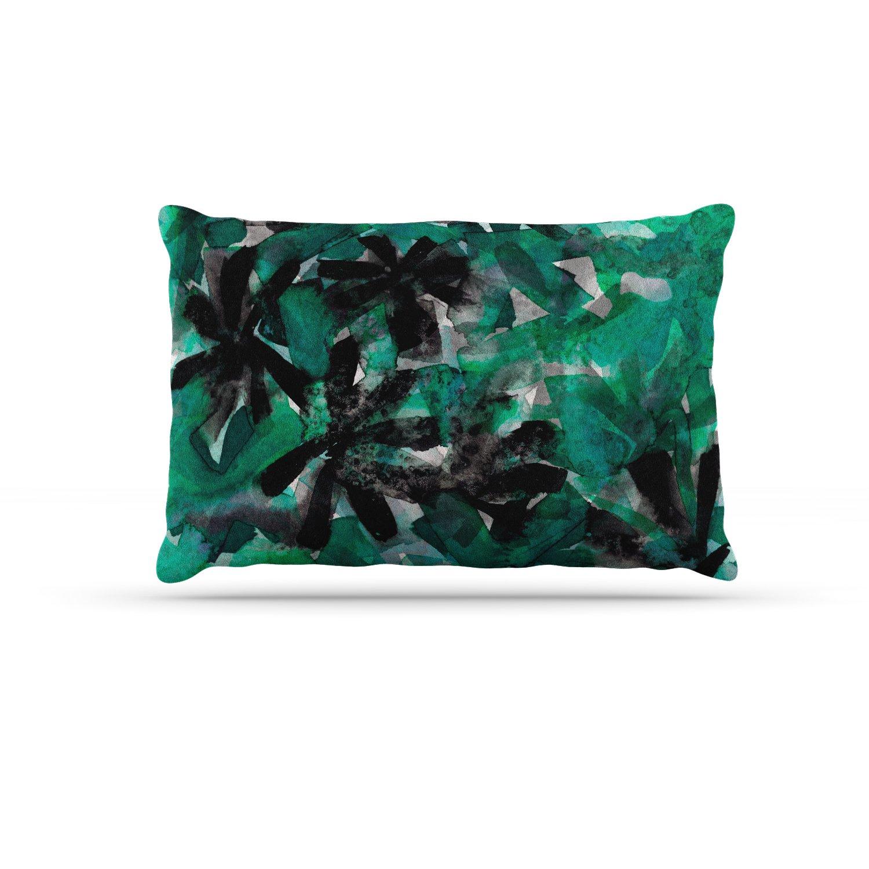 KESS InHouse EBI Emporium Snowy Stars 4, bluee Black Painting Dog Bed, 50  x 40