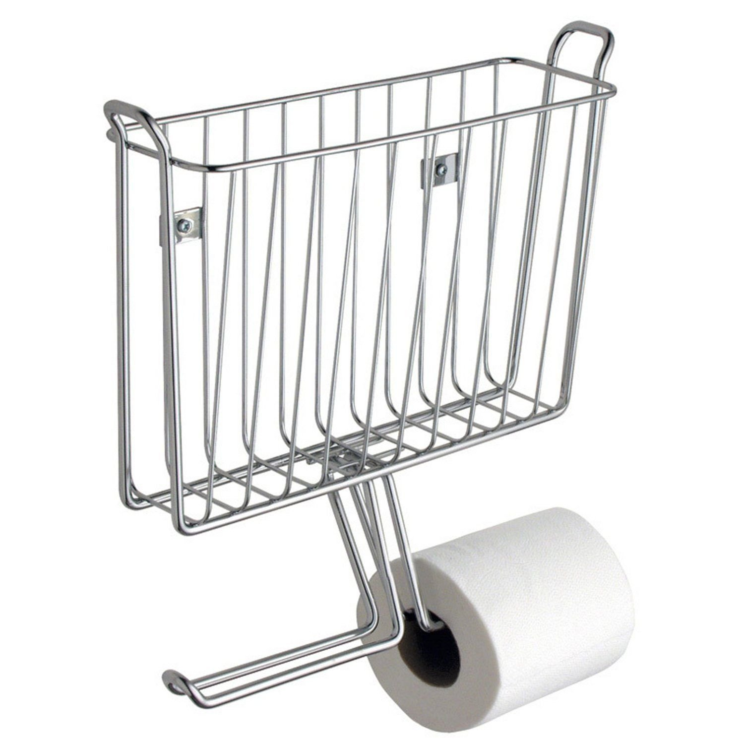 Generic NV_1008002536_YC-US2 hromeet Bathroom Wallmount m Wal Home t Mag Magazine 2 Tissue Paper 2 Ti Office Toilet Paper Holder Rack Chrome Home Of