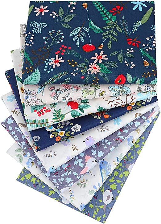 Approx 18 x 22 Cute Animal Print Quilting Fabric,100/% Cotton Fabric Fat Quarter Bundles for Sewing Crafting,46cm x 56cm