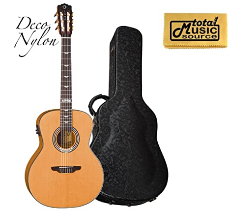 Luna Guitars ARTIST DECO NYLON acústica guitarra eléctrica, Art Deco ...
