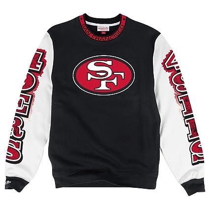 20d5850c931cb Amazon.com : Mitchell & Ness San Francisco 49ers NFL Excessive Premium Crew  Sweatshirt : Clothing